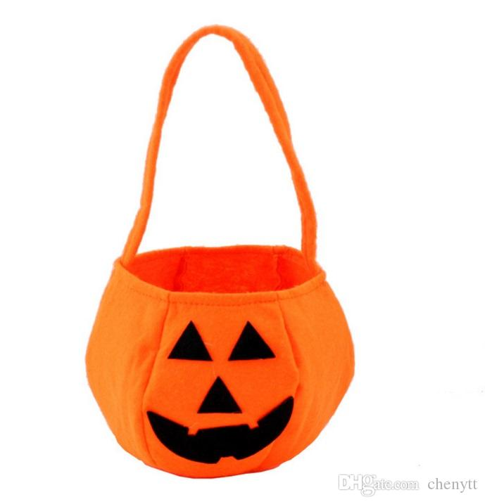 10pcs Halloween Bag Basket Pumpkin Spider Ghost Haunted House Decorating Candy Bucket Bag For Halloween Party Trick Or Treat- 10 pack