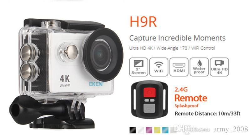 Original EKEN H9 H9R with remote control Ultra HD 4K WiFi HDMI 1080P 2.0 LCD 170D pro Sports camera waterproo