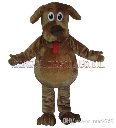 Brown-Hundemaskottchenkostüm freies Verschiffen-erwachsene Größe, füllt luxuriöse Plüschspielzeugkarnevalspartei des Maskottchens Fabrikverkäufe.