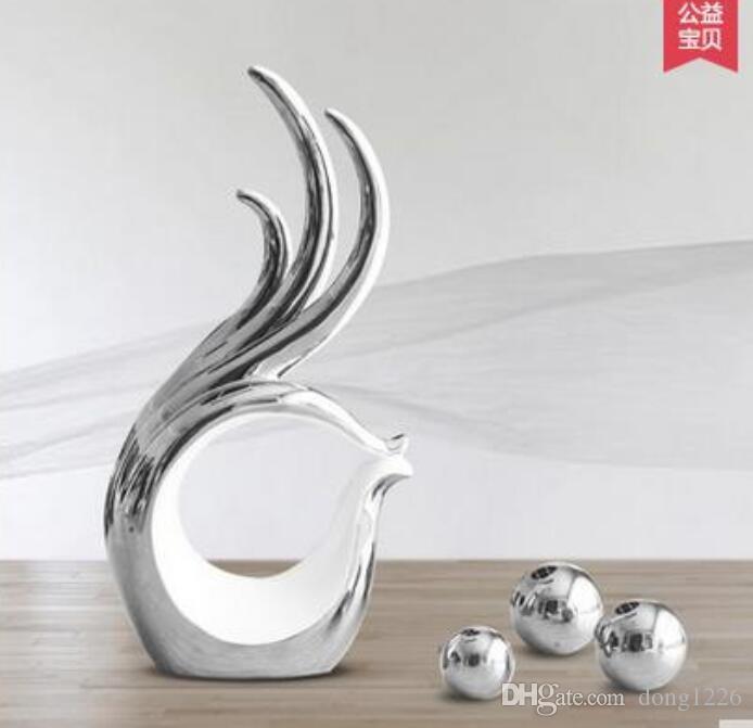 ceramica bianca creativa mano bacio artigianato arredamento casa decorazione della stanza artigianato figurine di porcellana regalo di decorazione di nozze