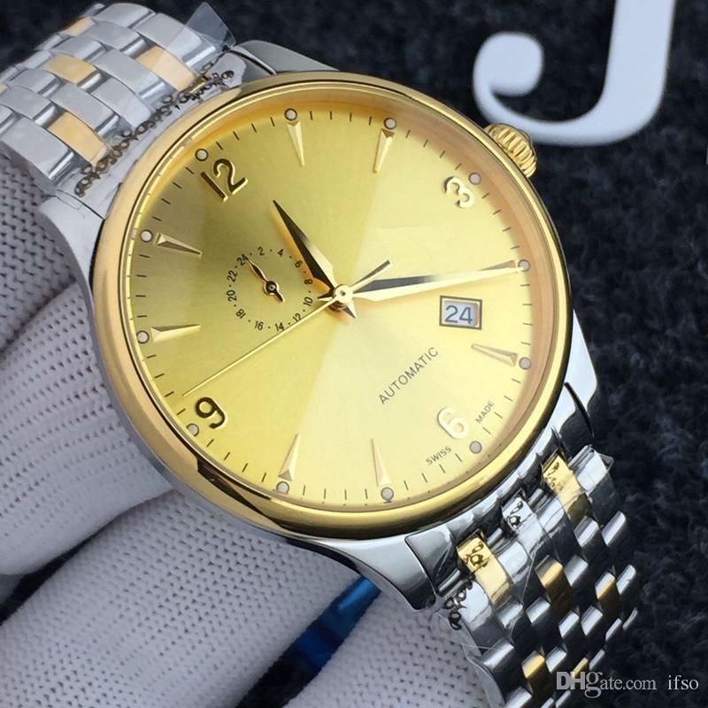 Hombres reloj de lujo 41mm NH37 Movimiento mecánico 7 colores Mineral Glass Relojes de pulsera de hombre 50m Impermeable