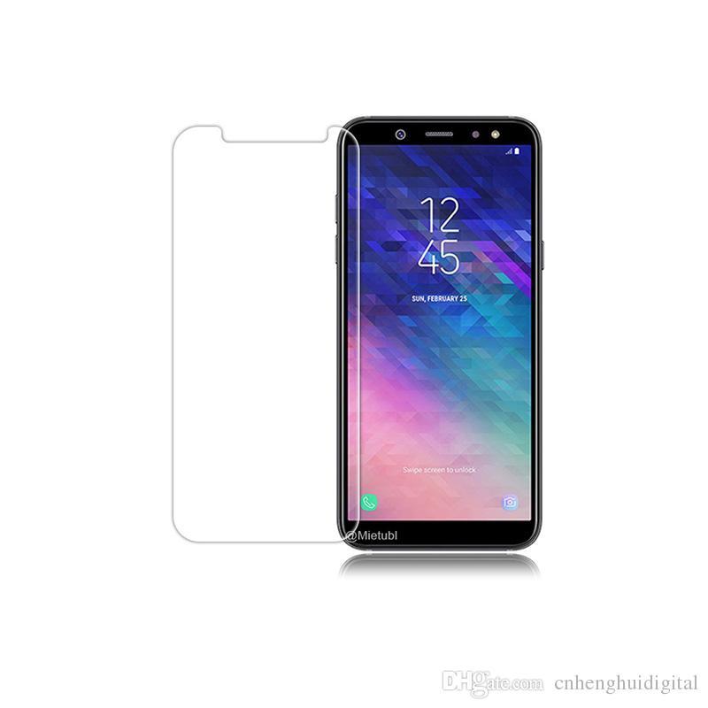 Limpar vidro temperado para samsung galaxy a6 2018 j7 halo filme protetor de tela para samsung galaxy a6 plus com oppbag