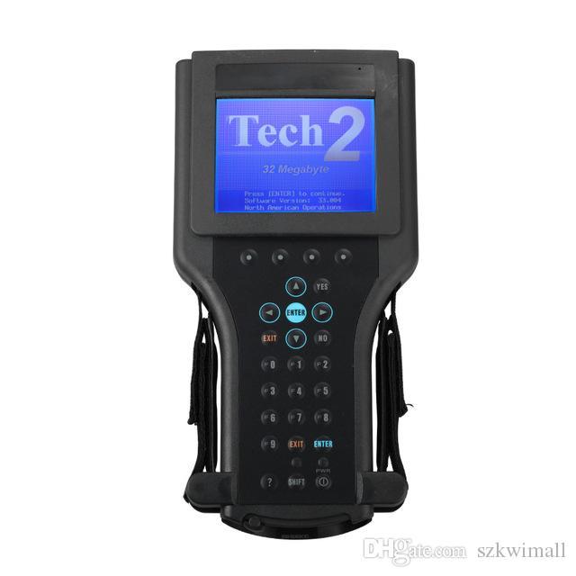 Yüksek Performanslı G m Tech 2 Tarayıcı Gm Teşhis Aracı G-M Tech2 Ücretsiz DHL Kargo ile siyah plastik kutu ile
