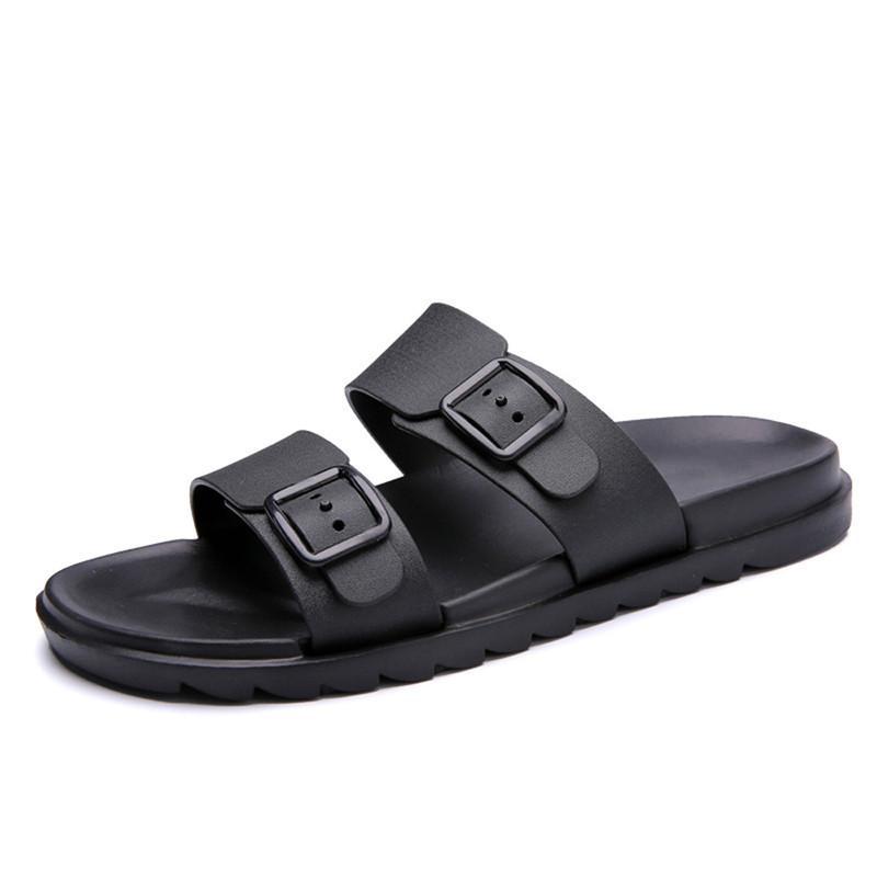 2018 yaz erkek Ayakkabı terlik açık rahat erkekler deri Kadın Erkek Plaj ayakkabı Terlik için Terlik Rahat Ayakkabı