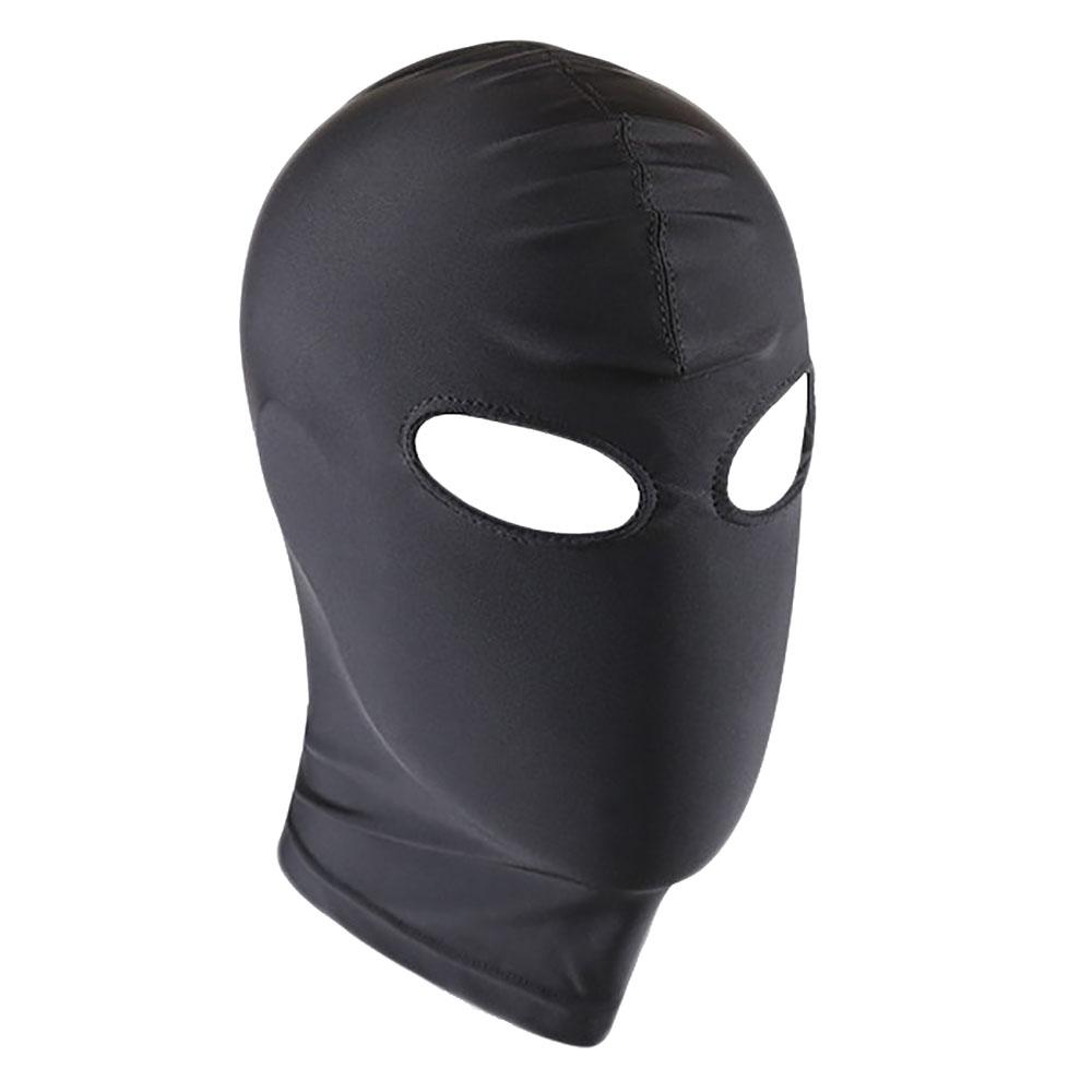 UK POST! BLACK AND WHITE SPANDEX HOOD WITH SPONGE EYE COVER
