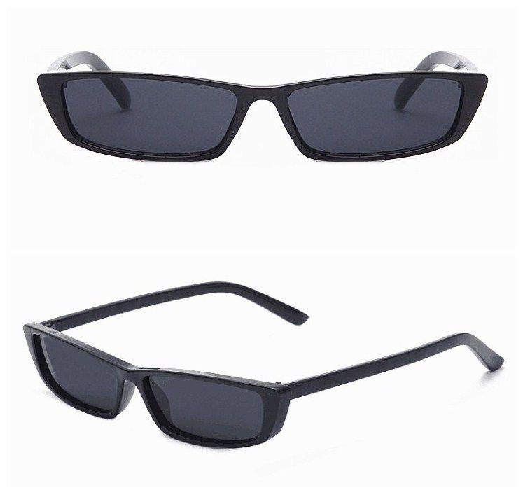 804331940 ... New Vintage Retângulo Óculos De Sol Das Mulheres Designer de Marca  Pequena Armação Óculos Retro Preto