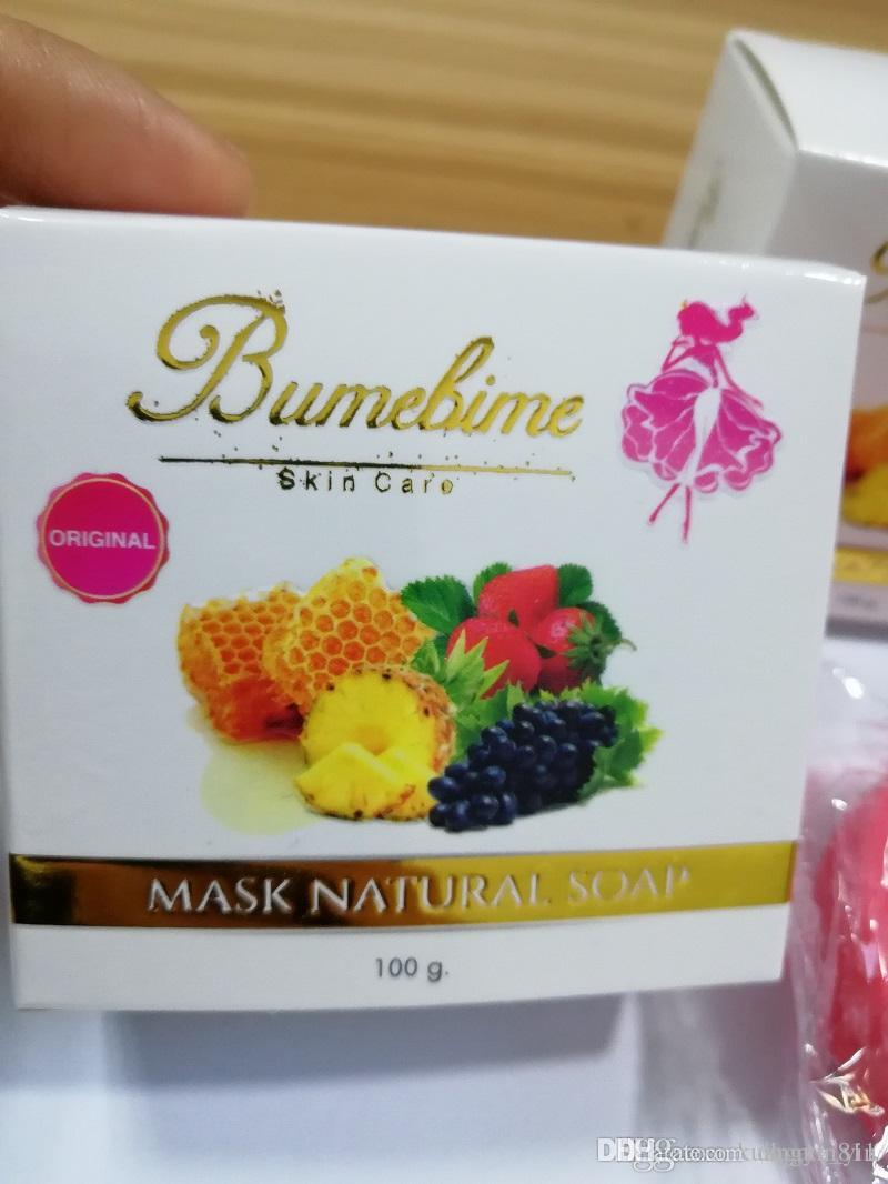 New Arrival Hot Bumebime Handwork Soap with Fruit Essential Natural Mask White Bright Oil Soap free shiping