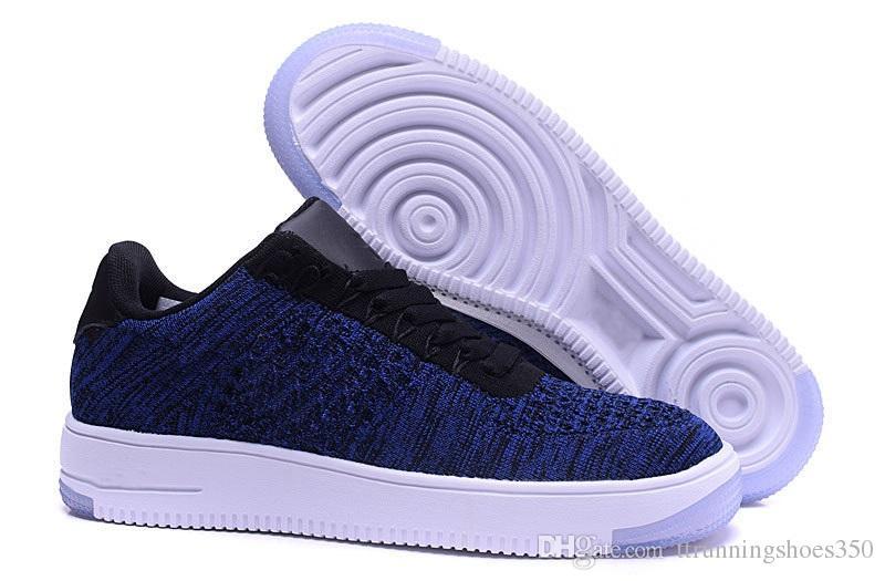 Großhandel Nike Flyknit Air Force 1 One Mode Männer Schuhe Low One 1 Männer Frauen China Freizeitschuh Fly Designer Royums Typ Atmen Skate Stricken