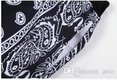 جديد أزياء الساخن بيع المتناثرة باندانا البلوز 3d الهيب هوب الكاجو الزهور نمط crewneck هوديس النساء / الرجال قميص البلوز