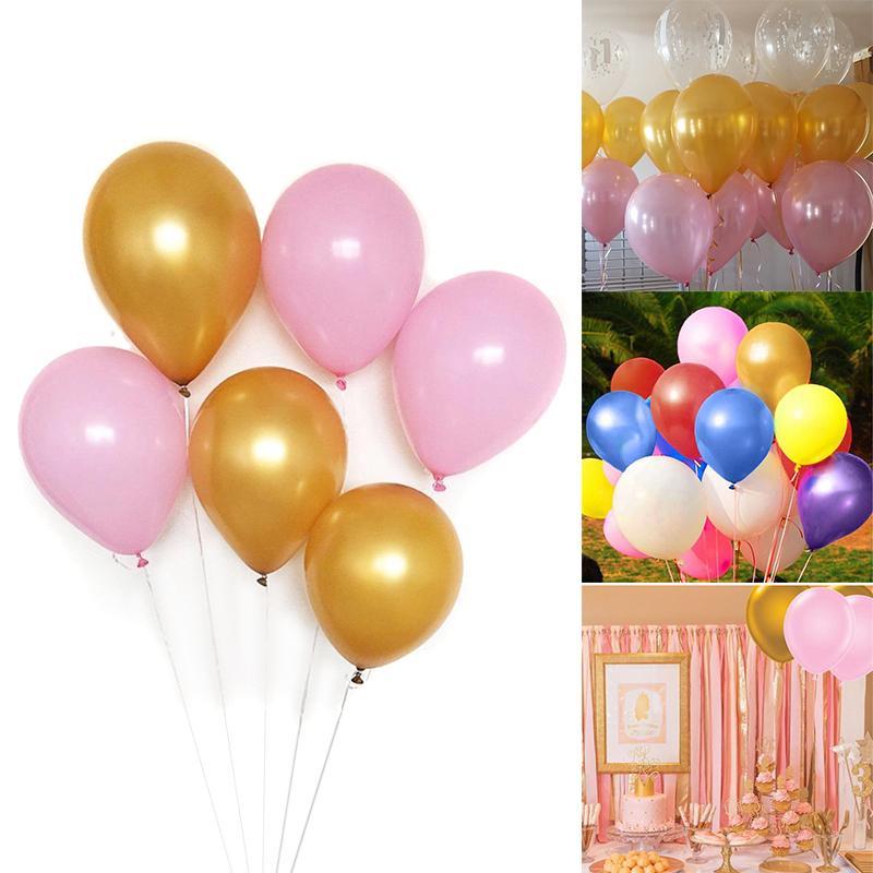 40 قطع اللاتكس بالونات معدنية الذهب الوردي بالونات اللاتكس ل عيد ميلاد الحزب الديكور الحدث إمدادات حزب
