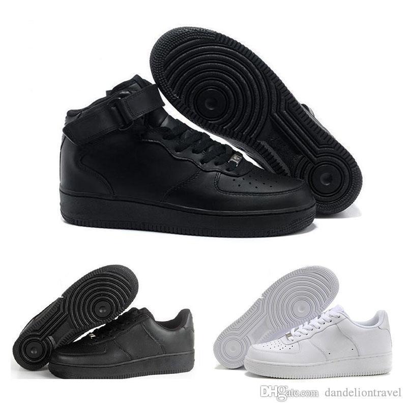 2019 Nike Air Force one 1 Af1 Nouveautés Hommes femmes classique en plein air Run Shoes Noir Blanc Sport Choc Jogging Marche Randonnée Sports Athletic Sneakers 049