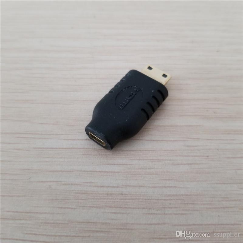 HDMI Type A to Micro HDMI Adapter Female to Male Converter Jack Black for Tablet Camera MP4