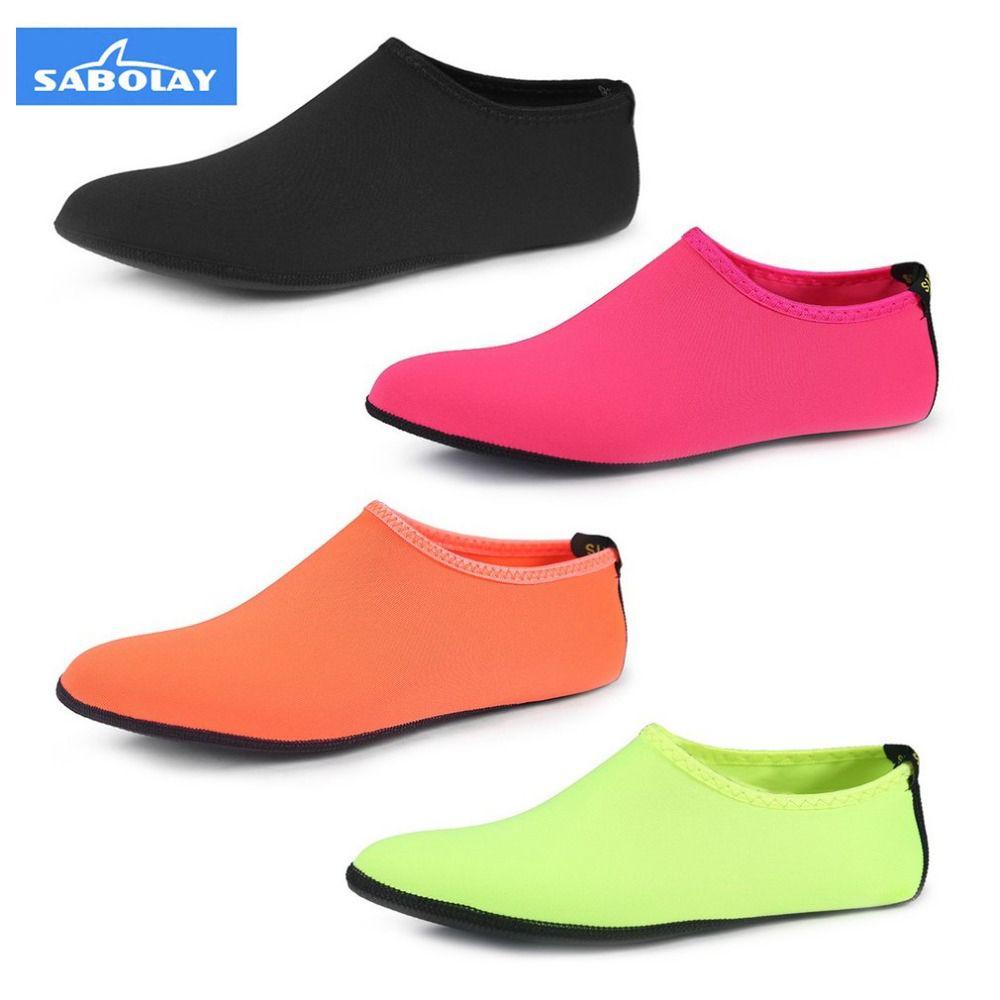 SABOLAY Erkekler Kadınlar Açık Yüzme Ayakkabı Nefes Yaz Plaj Pembe Çorap Spor Su Ayakkabı Kız Yumuşak Kurutma Sığ Ayakkabı Dalış Çorap