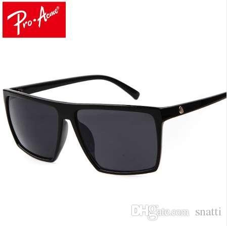 Gafas de sol Pro Acme Square Hombres Diseñador de la marca Espejo Gafas de sol de gran tamaño Photochromic Gafas de sol Hombre para hombre CC0039