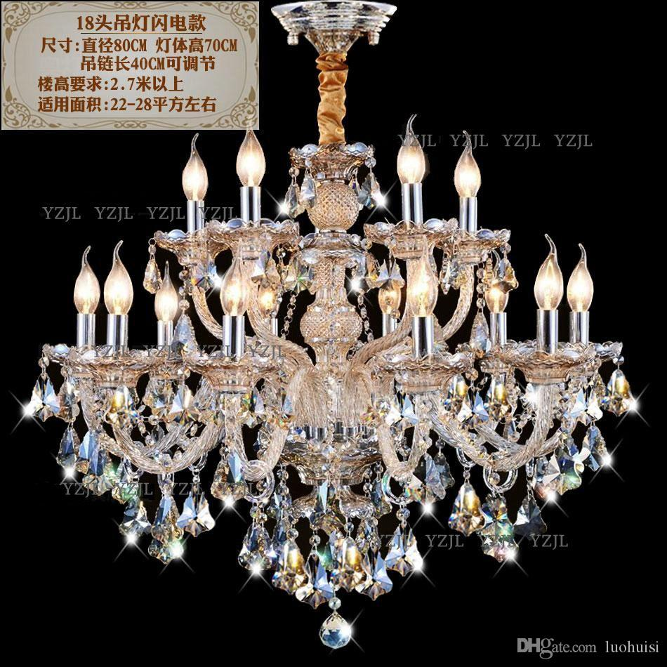 Lighting chandelier living room restaurant Cognac Villa duplex CHANDELIER lights crystal Chandelier 18/24 light lights