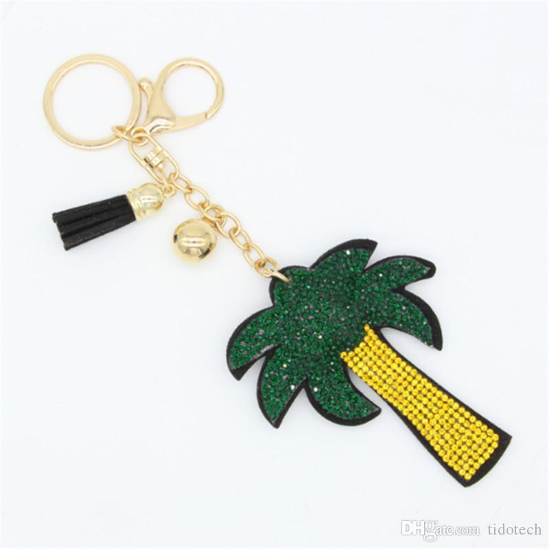 GREEN+RED Fashion Leather Metal Car//Purse Bag Keyring Keychain Key Chain Ring
