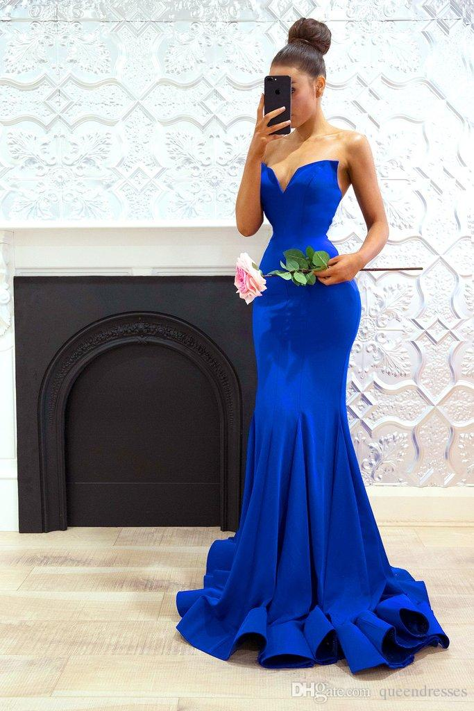special occasion royal blue party dress