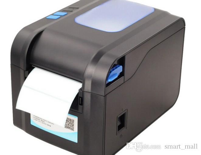 Kostenlose fracht XP-370B etikett barcode drucker thermo etikettendrucker 20mm bis 80mm thermo barcode drucker LLFA