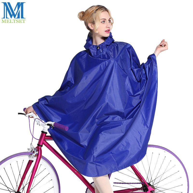 Bike Outdoor Bicycle Coat Waterproof Cycling Raincoat Poncho Rain Cape Hooded UK