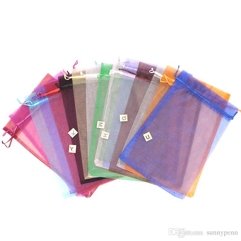 Großhandels100pcs multi Farben Schmuck Verpackungsbeutel Organza Beutel 20x30cm, Hochzeit Geschenk-Beutel-Nizza Geschenk-Beutel für Weihnachten