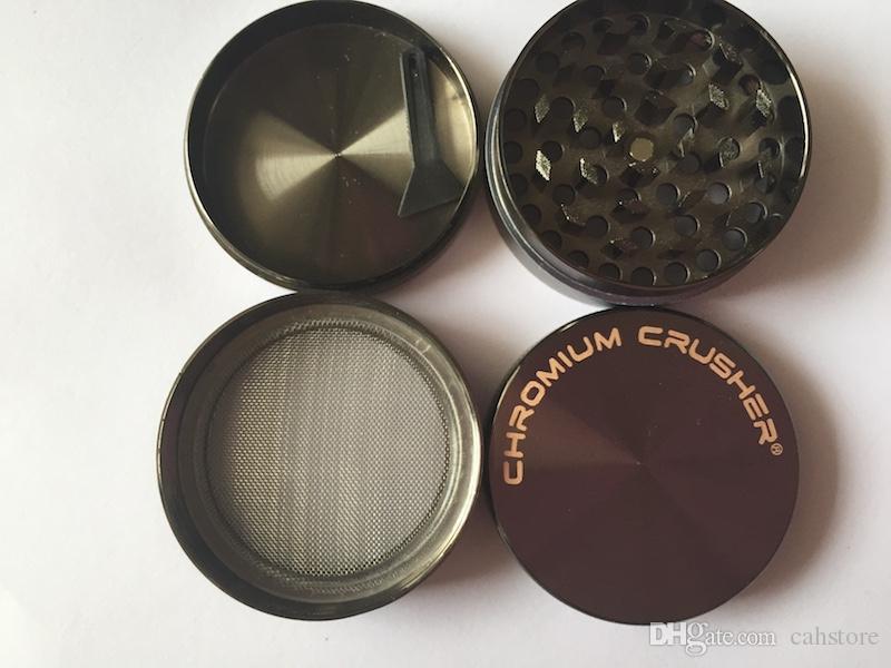 40mm / 50mm / 55mm / 63mm / 75mm 4 pz cromo trituratore smerigliatrice CNC zicn lega metallo tabacco erba grinder smerigliatrice per smerigliatrici erbe smerigliatrici