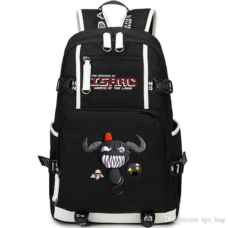 Возрождение рюкзак привязка Исаак рюкзак гнев ягненка школьный мешок игры рюкзак Спорт школьный мешок Открытый день пакет