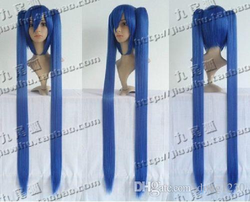 COS HATSUNE MIKU sous-espèce bleue double queue type séparé Party Cosplay perruque