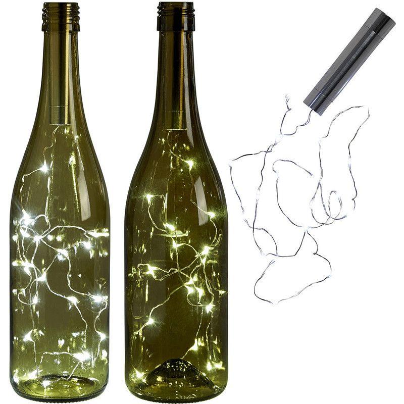 LED Wine Bottle Lights 1.5m 15 Cork Shaped Mini String Lights Wine Bottle For DIY Christmas Wedding Party Warm White LED Light