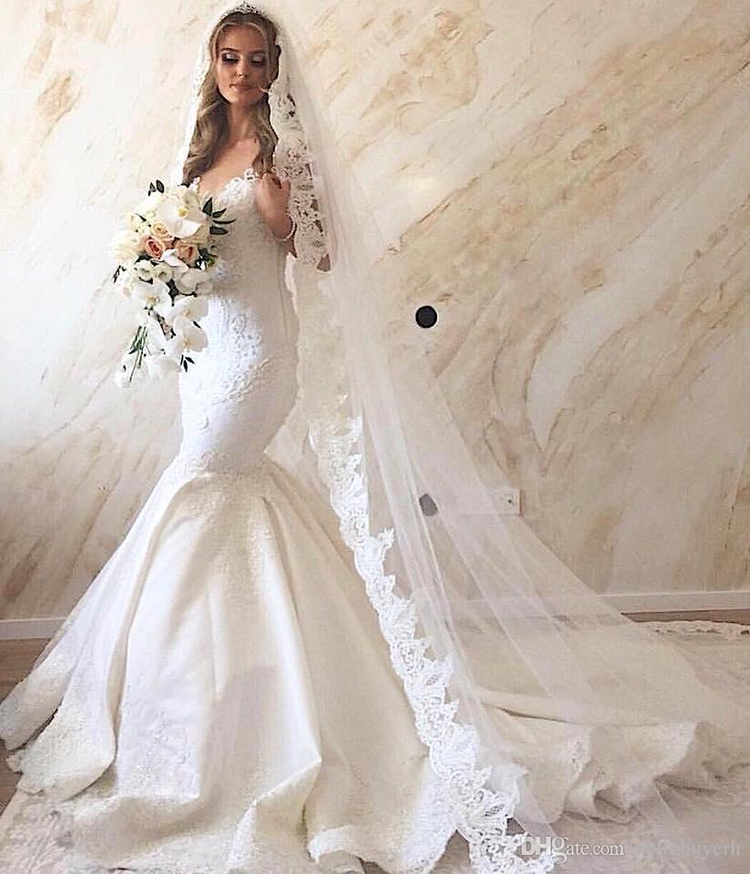 Immagini Vestiti Da Sposa.Mermaid White Satin Mermaid Beach Wedding Dresses Bridal Gowns