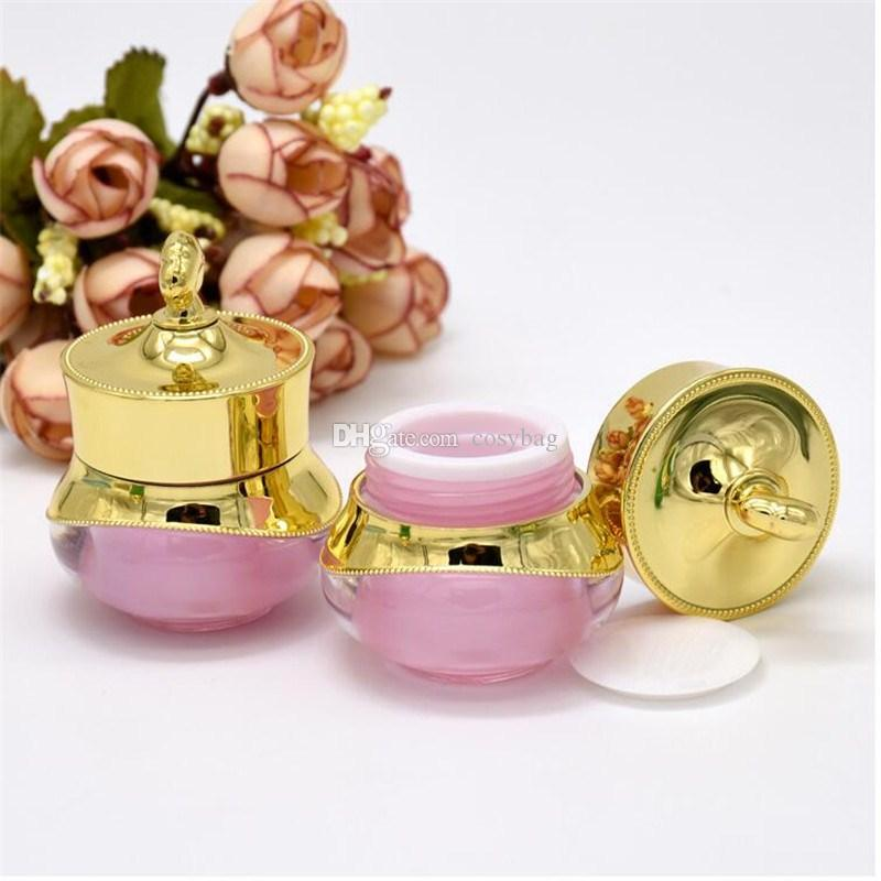 5g/5ml Refillable Bottles Travel Cream Lotion Cosmetic Container Plastic Empty Makeup Jar Pot 5 Colors B0122
