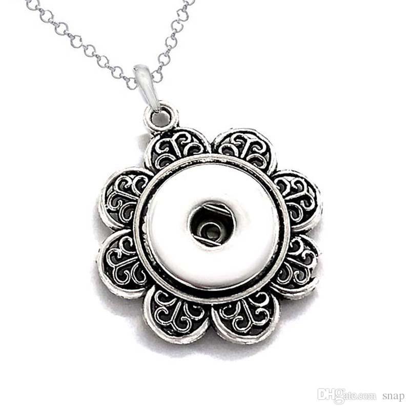 Горячие продажи высокого качества 022 Оснастки кнопка кулон ожерелье Fit 18 мм кнопки для женщин Шарм сменные ювелирные изделия брелок одно направление