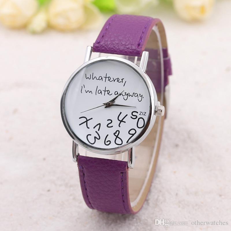 что бы я ни опоздал, все равно английский алфавит часы Настольные наручные часы