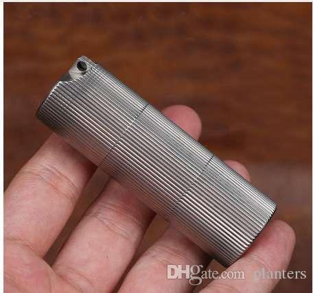 Yüksek Kaliteli Titanyum Alaşım Katmanlı Mühürler Şişe Su Geçirmez Teneke Kutu İlaç Şişe Açık EDC Aracı