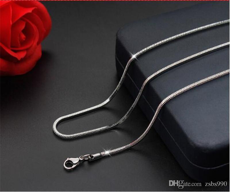 All'ingrosso della fabbrica 1.5MM 2MM 3MM acciaio inossidabile 316L quadrato catena serpente collana moda accessori per il partito fresco gioielli per uomini e donne