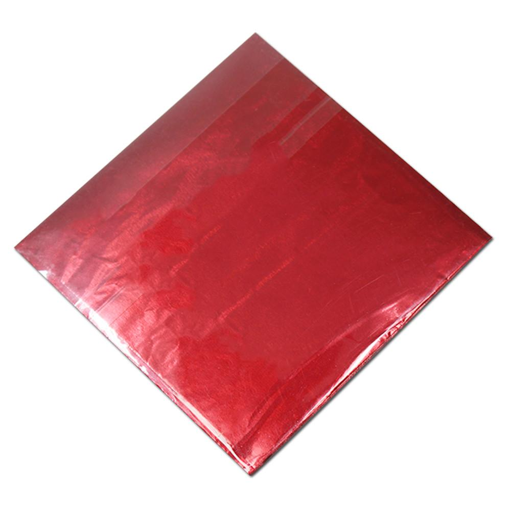 800 Pçs / lote 8 * 8 cm 10 Cores Quadrado Folha De Lata De Doces De Chocolate Embalagem Doces Doces Vende Varejos Embrulho De Papel De Embalagem Da Folha De Lata