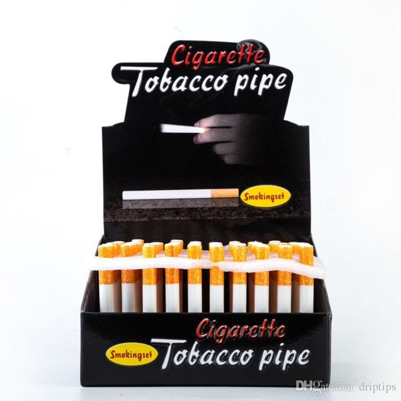 담배 모양의 흡연 파이프 세라믹 필터 파이프 100pcs / 박스 78mm 55mm 길이 하나의 흡연 파이프 담배 파이프