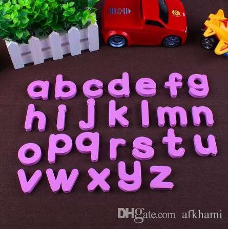 4x5 cm Colores Imán de EVA Pequeñas letras inglesas Imán