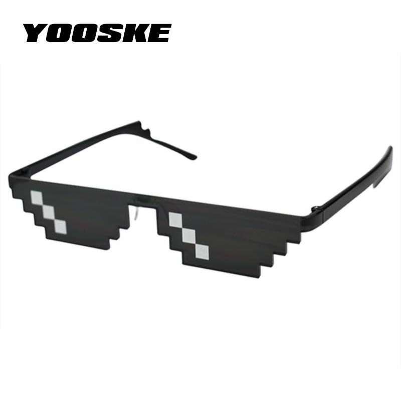 Thug Life Glasses Deal With It Glasses Pixel Women Men Black Sunglasses