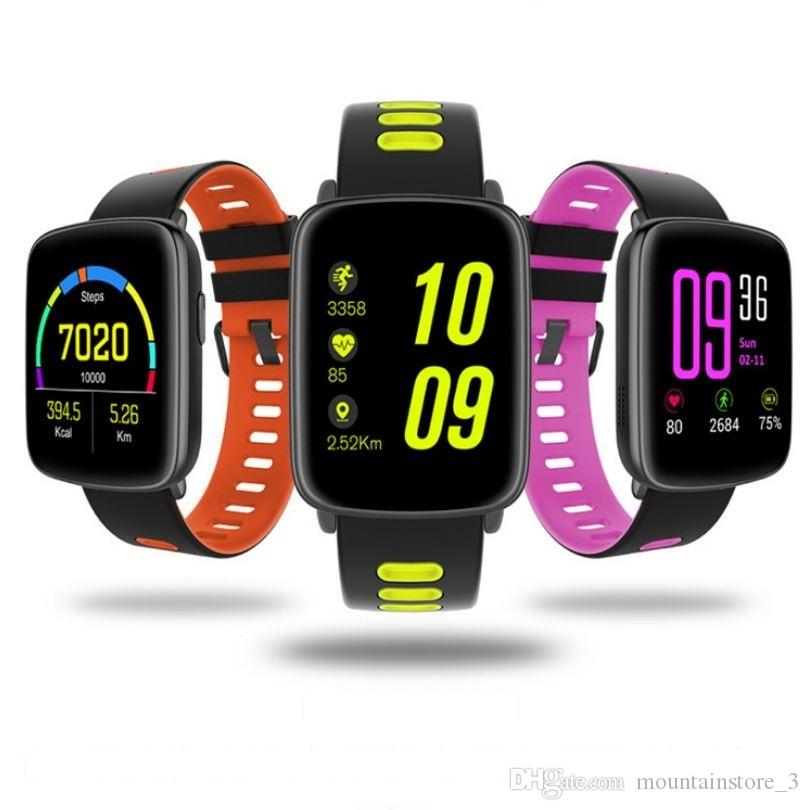 GV68 Smart Watch Waterproof Ip68 Heart Rate Monitor Bluetooth Smartwatch Swimming with Replaceable Straps for IOS Android (Retail)