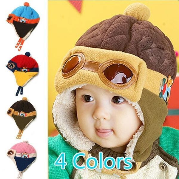 53582742fecce9 Winter Cool Kids Baby Toddler Pilot Cap Aviator Warm Earflap Hat Beanie GUD