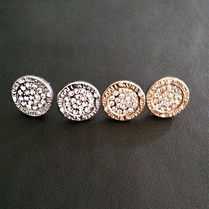 Boucles d'oreilles de mariage pour les femmes de cristal perle ronde en or plaqué argent Boucle d'oreille earing femmes boucle d'oreille dame fille Earings stud Bijoux