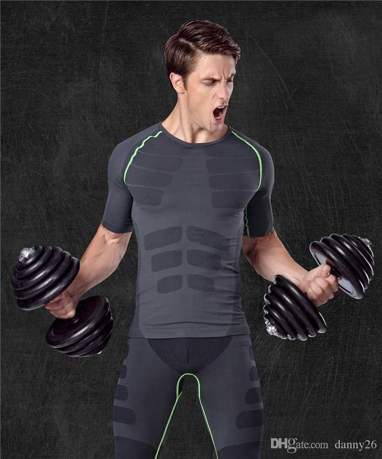 Футболка для тренировок Uomini di allenamento футболка с короткими рукавами, спортивная коррекция, пляжный фитнес, футболки, одежда magliette ma06