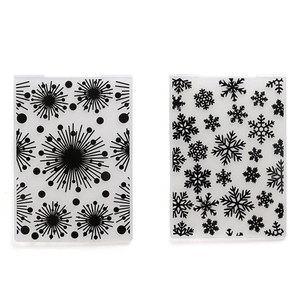 زينة عيد الميلاد ندفة الثلج الحرفية وفاة الألعاب النارية النقش مجلد ورقة بطاقة عيد الميلاد سكرابوكينغ واضح ختم