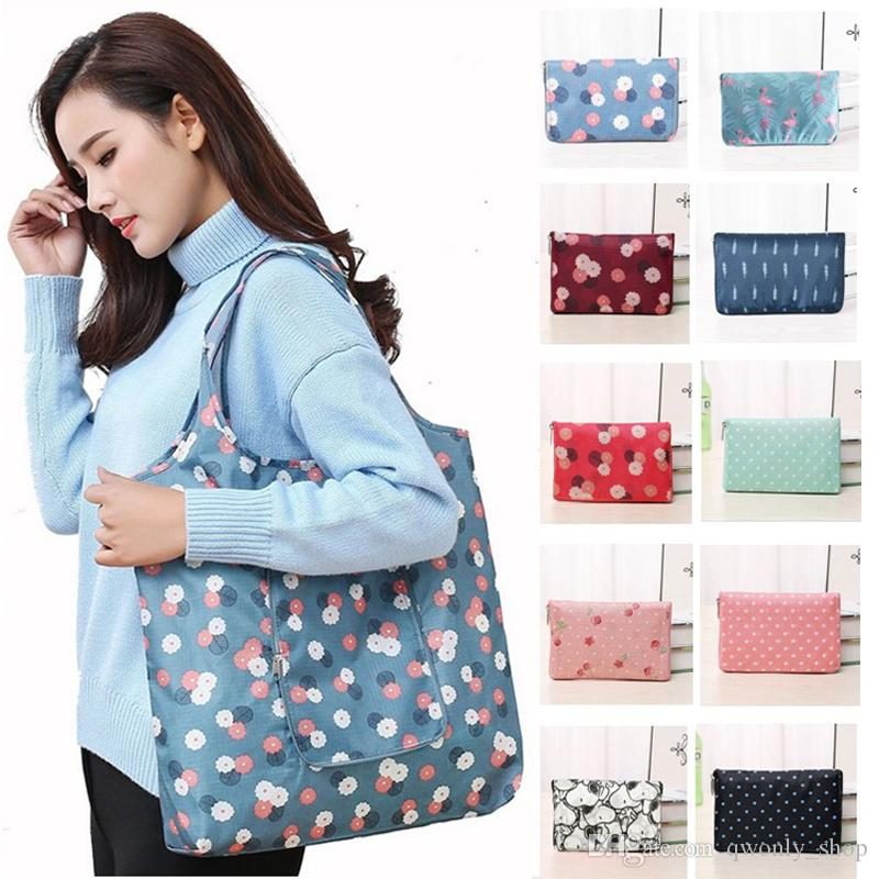 Foldable Shopping Bags Reusable Storage Bag Eco Friendly Waterproof Handbags Tote Bags Travel Large Capacity Grocery Bags can choose colors