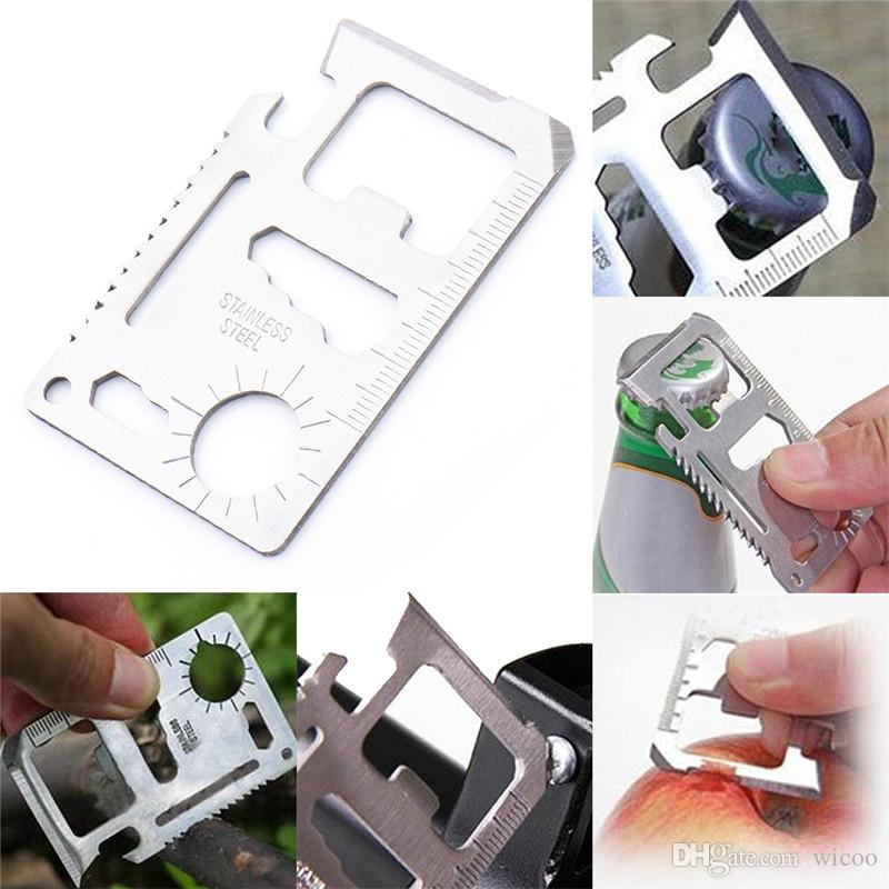 5pcs/Set Camping Credit Card Knife hole for Hunting Survival Outdoor Multi function Tool Pocket Saber Military