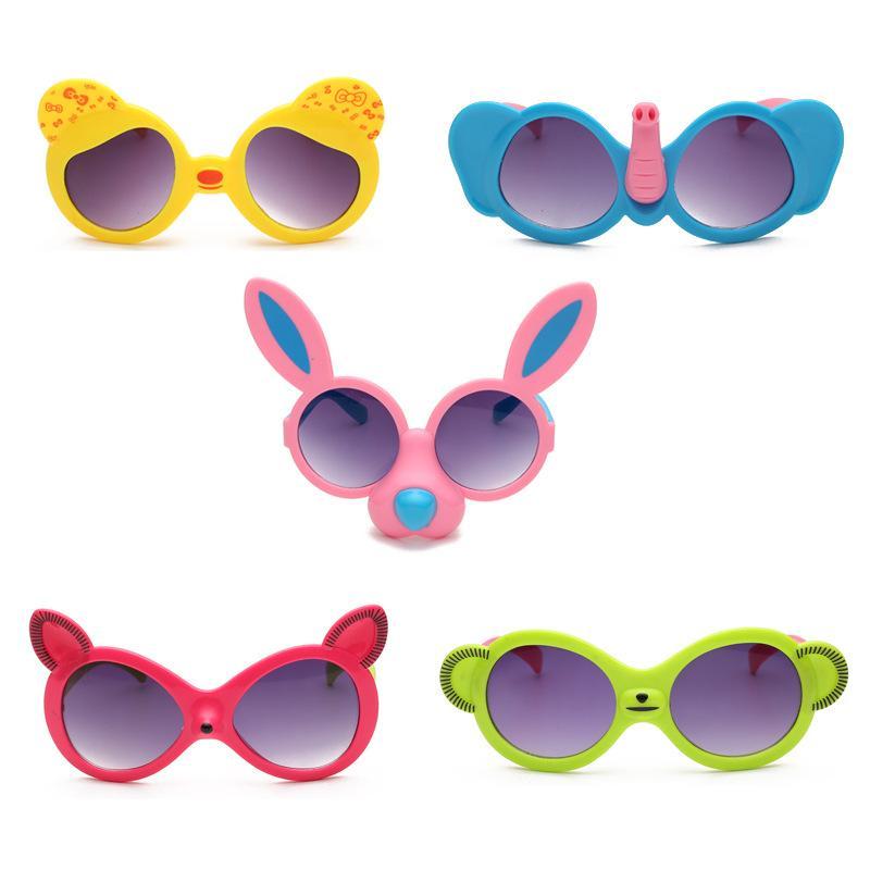Children's cartoon sunglasses 5 colors anti-UV glasses Cute animals sun glasses for child Christmas gift free tnt fedex