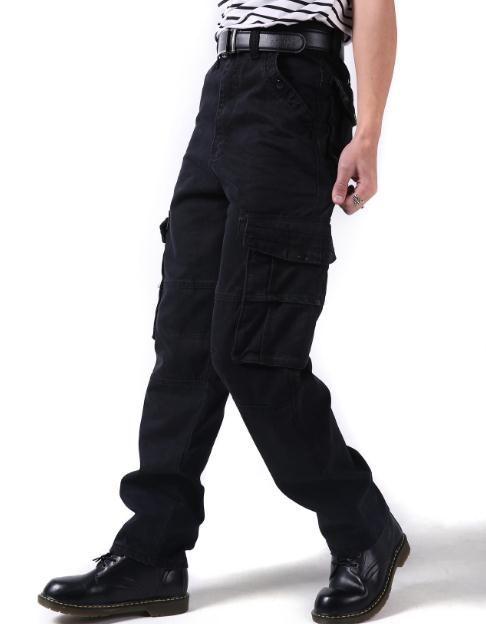 Moda Uomo Pantaloni di Tendenza Hiphop Sciolto il tempo Libero Pantaloni Larghi Nuovo Mens Pantaloni Cargo Grande Taglia 44 46 Uomini Pantaloni Lunghi Hip Hop Fondi Neri