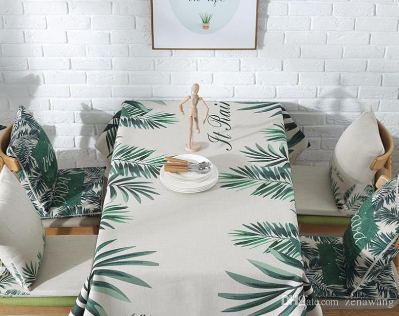 140CM only one piece of tablecloth F 100 TLZD European pastoral digital printing cotton linen tablecloth coffee table rectangular cloth hotel round table tablecloth simple table mat