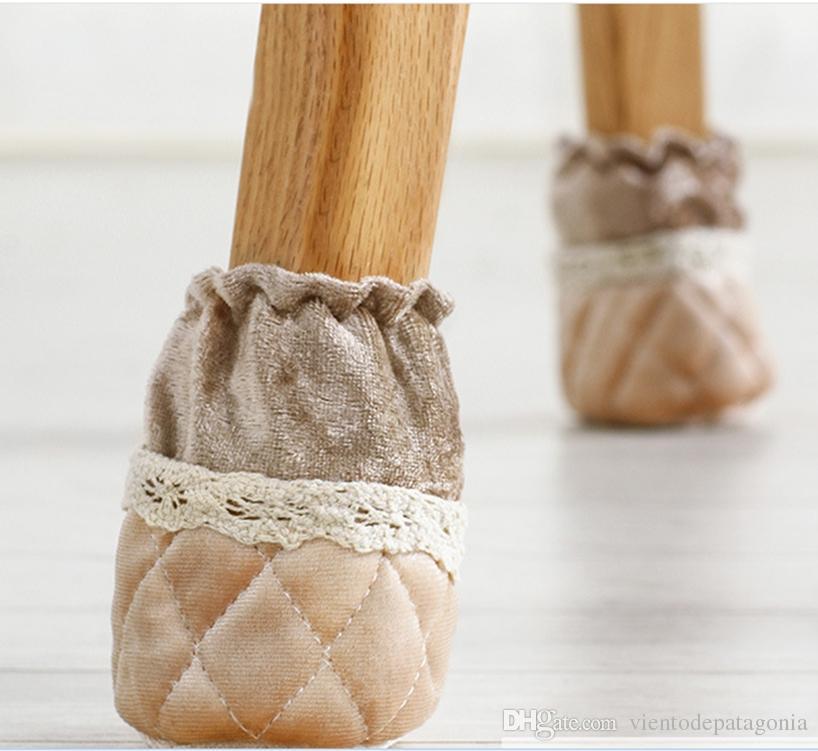 4шт стул ноги крышка стола ноги шерстяные носки противоскользящие главная анти-шум - бежевый