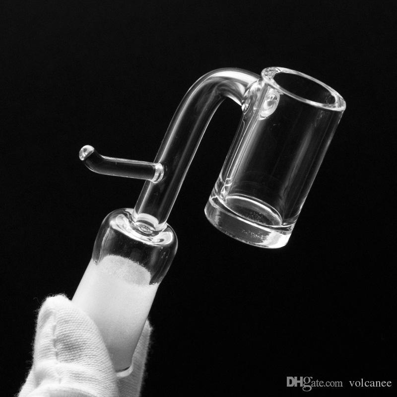 5mm Thick Quartz Enail Domeless With Hook e nail Electronic Quartz Banger Nail For 20mm Heating Coil portable Glass Bongs Dab Rigs